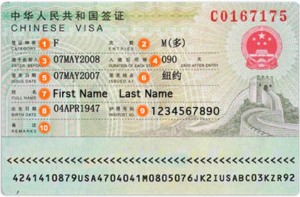 Application Form Chinese Visa - China/US Visa Service Pros